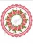 Принт декорация - Розов венец - ø 20 см