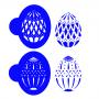 Комплект шаблони за бисквитки - Фаберже елеганс - 2 бр