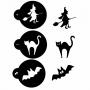 Комплект шаблони - Хелоуин - 3 бр