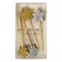 MeriMeri - Декорации за мъфини и торти - Злани и сребърни звезди