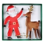 MeriMeri - Комплект метални резци - Дядо Коледа и Рудолф