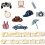 Комплект резци и щампи - Аксесоари за мъже - 10 бр
