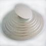 Подложка за торта - Сребриста кръгла - Ø25 см