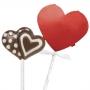 Комплект опаковки за близалки - Червени сърца - 8 бр