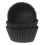Хартиени форми за мини мъфини - Черно кадифе - 60 бр