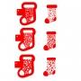 Комплект шаблони - Коледни чорапчета - 3 бр