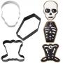 Комплект метални цветни резци - Хелоуин скелет - 3 бр