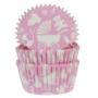 Хартиени форми за мъфини - Бебешки в розово - 50 бр
