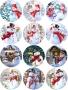 Принт декорация - Снежни пожелания - 12 бр