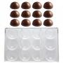 Поликарбонатен молд за шоколад - Полусфери - 12 бр