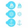 Комплект шаблони - Лято и море - 3 бр