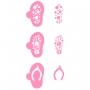 Комплект шаблони - Лятно настроение - 3 бр