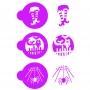Комплект шаблони - Нощта на Хелоуин - 3 бр