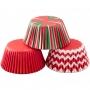 Хартиени форми за мъфини - Традиционна Коледа - 75 бр