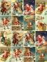 Принт декорация - Винтидж Дядо Коледа - 16 бр