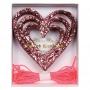 Парти гирлянд - MeriMeri - Блестящи розови сърца