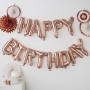 Парти балони - PICK & MIX - Happy Birthday - Розово злато