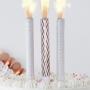 Парти свещи - PICK & MIX - Фонтан Розово злато - 3 бр