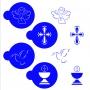 Комплект шаблони - Свето кръщение - 4 бр