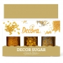 Комплект захарни декорации - Златна звезда - 3 бр