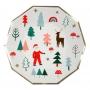 Парти чинии - MeriMeri - Дядо Коледа и Рудолф