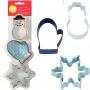 Комплект метални цветни резци - Зимни празници - 3 бр
