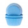 Хартиени форми за мини мъфини - Небесно сини - 60 бр
