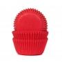 Хартиени форми за мини мъфини - Червено кадифе - 60 бр