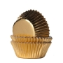 Хартиени форми за мини мъфини - Златно фолио - 36 бр