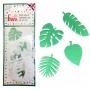 Комплект резци - Тропически листа - 4 бр