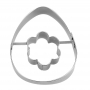 Метален резец - Яйце с цвете - 7 см