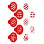 Комплект шаблони за бисквитки - Артистични яйца - 5 бр