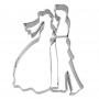 Метален резец - Младоженци - 8 см