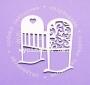 Елементи от бирен картон - Бебешко креватче с орнаменти