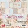 Комплект дизайнерски хартии - 12x12 - Розова градина