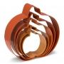 Комплект метални цветни резци - Тиква - 5 бр