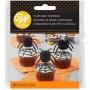 Декорации за мъфини и торти - 3D паяци - 12 бр