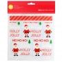 Комплект самозалепващи торбички - Дядо Коледа - 20 бр