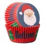 Хартиени форми за мъфини - Дядо Коледа - 75 бр