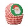 Хартиени форми за мини мъфини - Дядо Коледа - 100 бр
