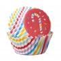 Хартиени форми за мини мъфини - Захарно бастунче - 100 бр