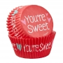 Хартиени форми за мъфини - Sweet Valentine - 75 бр