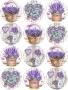 Принт декорация - С дъх на лавандула - 12 бр