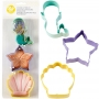 Комплект метални цветни резци - Морски свят - 3 бр