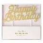 Парти свещи - MeriMeri -  Happy Birthday - Златни