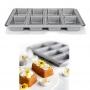 Форма за 8 бр мини козунаци, хляб и кекс с незалепващо покритие