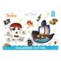 Комплект резци - Пиратски кораб и Череп и кости - 2 бр