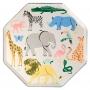 Големи парти чинии - MeriMeri - Сафари животни