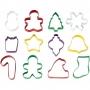 Комплект метални цветни резци - Коледа - 12 бр