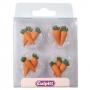 Захарни декорации - Морковчета - 12 бр